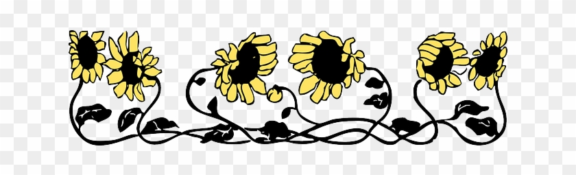Flowers, Border, Automatic, Sunflower, Flower - Letter K Sunflowers Shower Curtain #272185