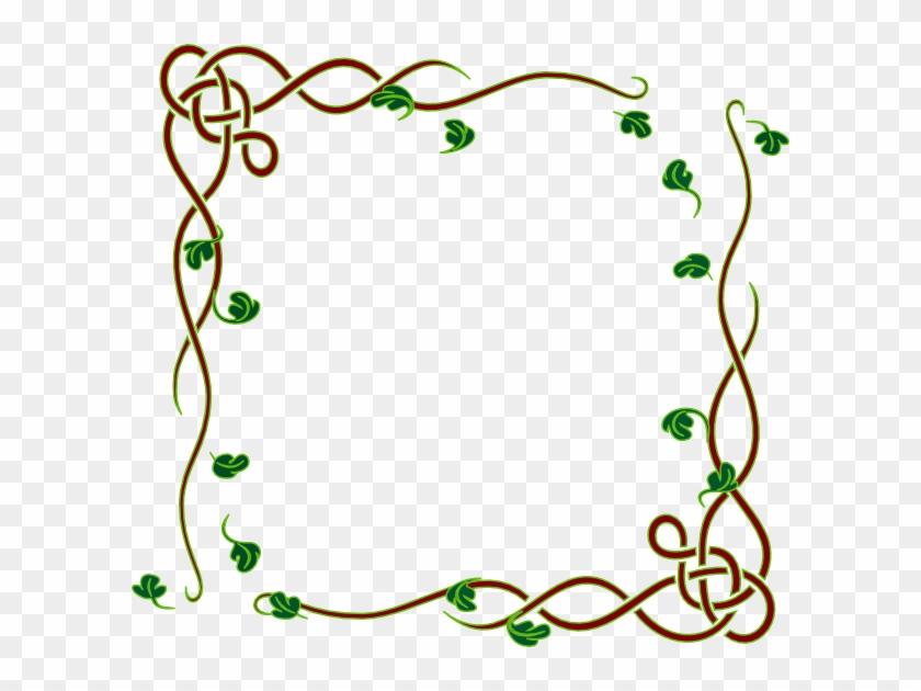 How To Set Use Leafy Frame Green Svg Vector - Shamrock Vine Corner Rubber Stamp By Drs Designs #272266