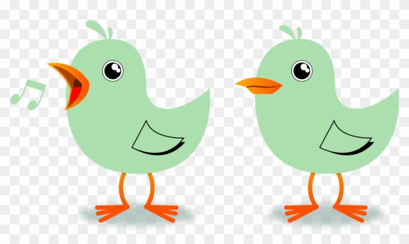 Twitter Birds Singing Musical Celadon Dingle Peacesymbol - 2 Little Dicky Birds Clipart #272284