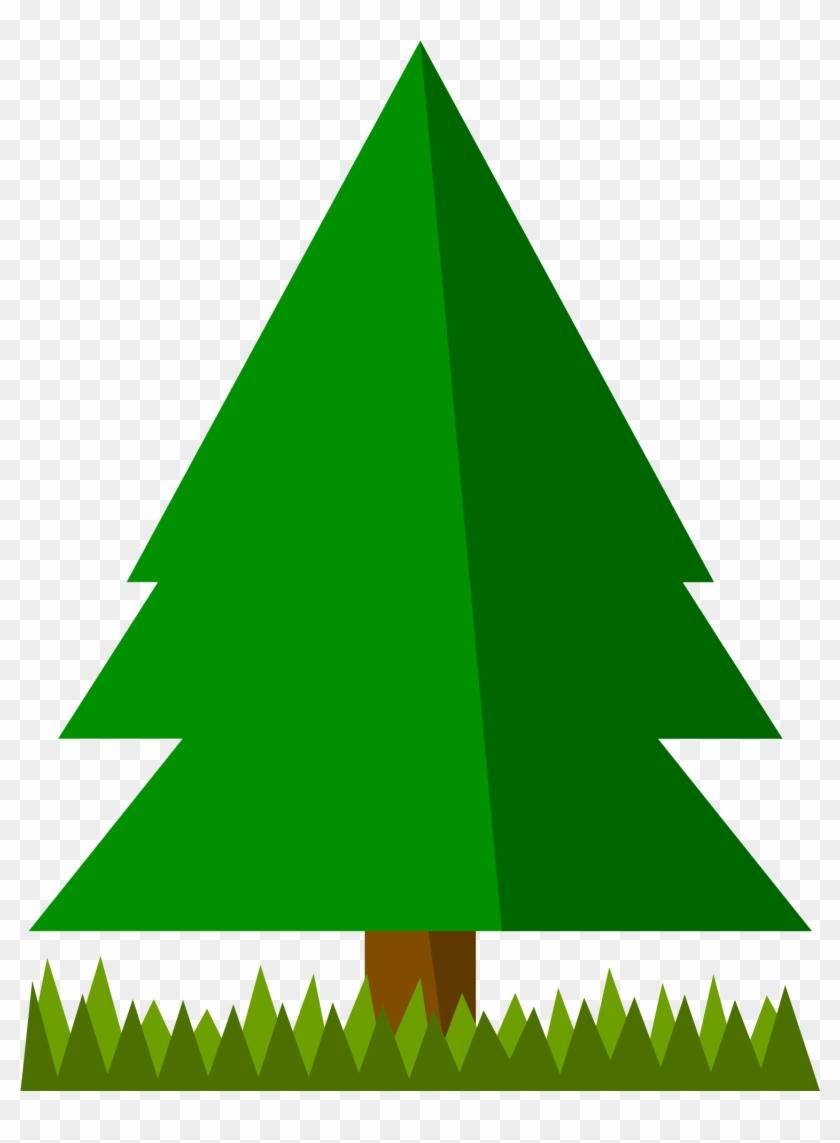 Free Simple Spruce Tree Clip Art - Tree Clip Art Simple #272534