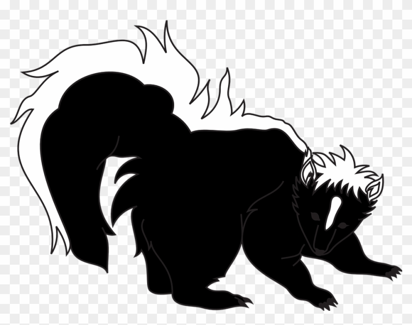 Black Panther Clipart 23, Buy Clip Art - Clipart Black And White Skunk #272645
