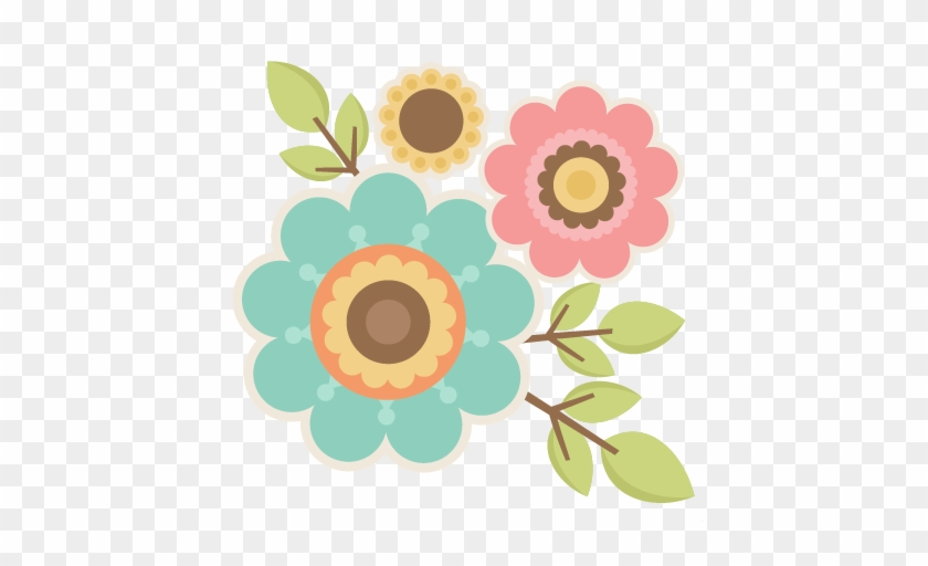 Twigs With Flowers Svg Cutting Files For Scrapbooking - Hojas De Cuaderno Decoradas #272705