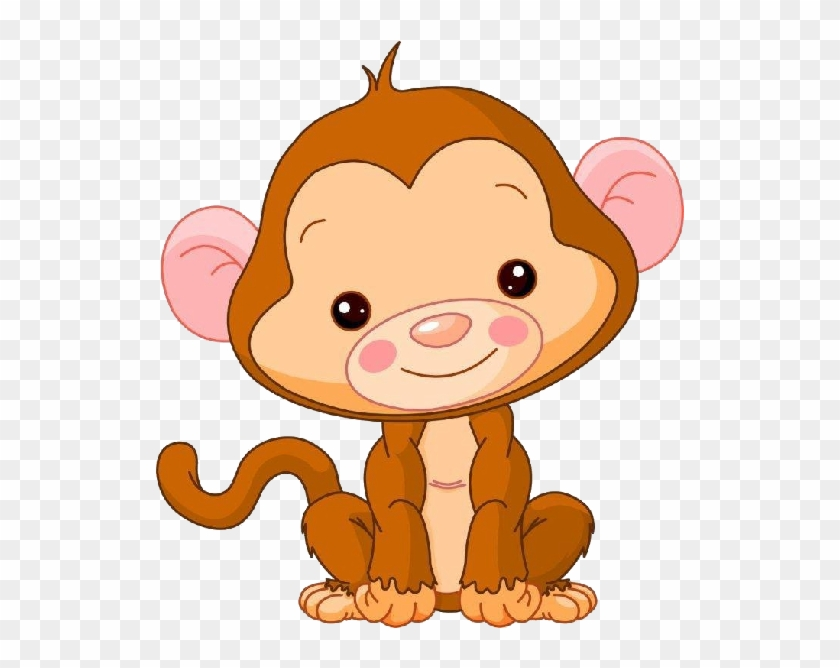 Fancy Baby Girl Monkey Cartoon Baby Monkey Clipart - Cute Baby Monkey Clipart #272734