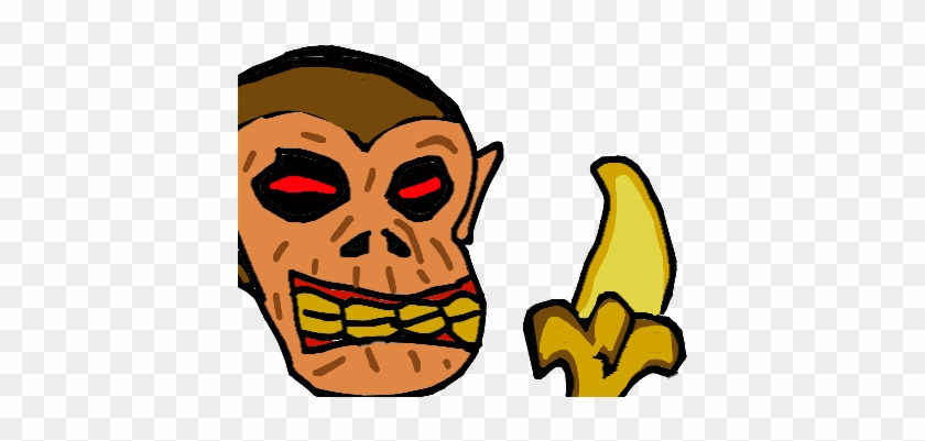 Forum Draw A Scary Or Funny Monkey Eating Banana