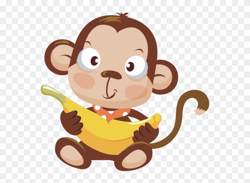 Image Of Baby Monkey Clipart 7 With Banana Clip - Baby Monkey Clipart Png #272771