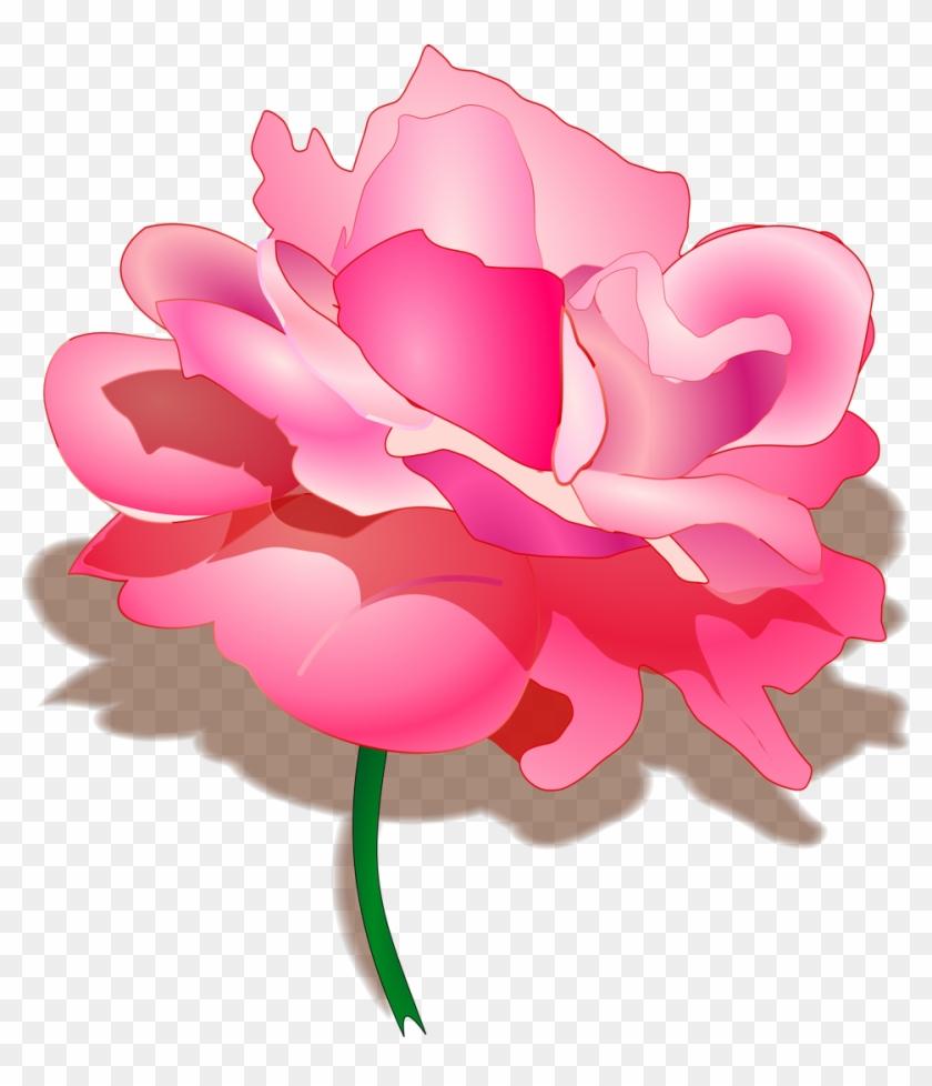 Pink Flower Clipart Flower Transparent Background Pink Rose