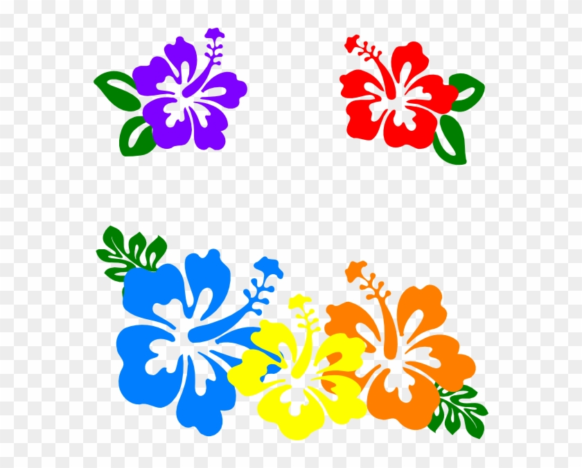 Blue Flower Clipart Hawaii Hibiscus Clip Art Hawaiian Flowers
