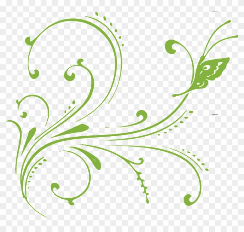 Flower Vine Clipart 22, - Traceable Pics Of Butterflies #273023
