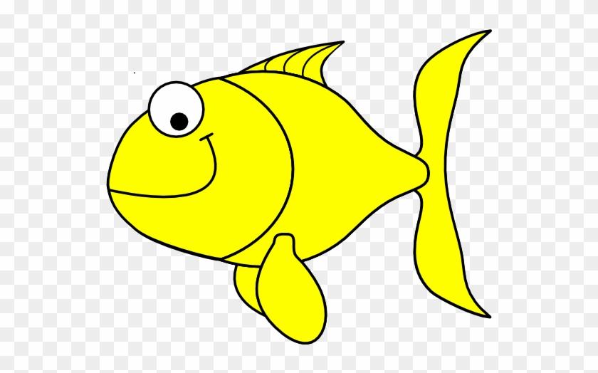 Yellow Fish Clip Art At Clker - Goldfish Clip Art #273171