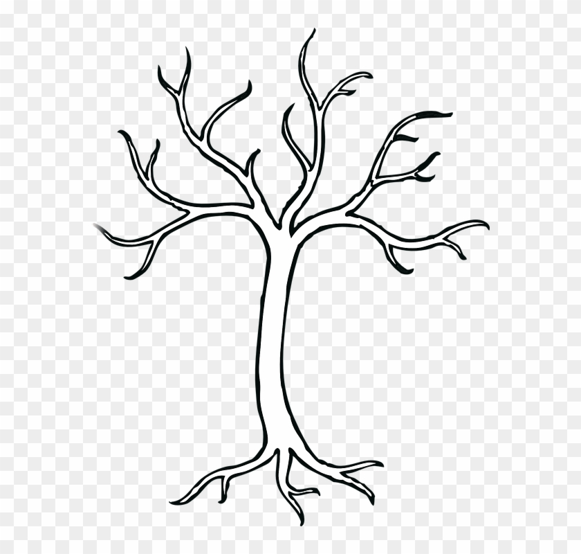 Coloring Pages Of Trees Without Leaves Tree Without - Bare Tree Clip Art #273213