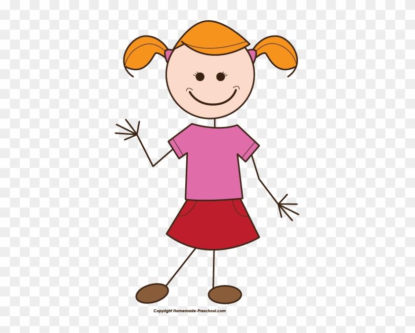 Girl Clipart Stick Figure - Girl Clipart Stick Figure #273304