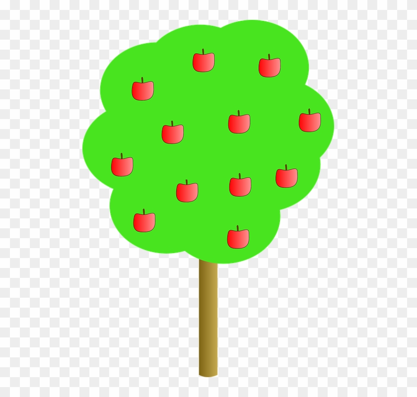 Apple Tree Clip Art Free Vector - Apple Tree Clip Art #273458