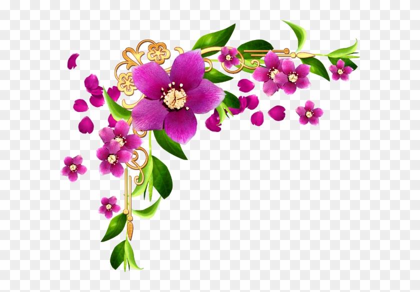 Bordure Fleur Clipart 2 By Tracy - Coin De Page Fleur #273580