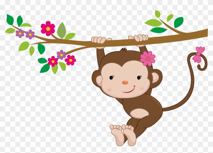 Changossala De Monoanimales - Swinging Baby Monkey Throw Blanket ...