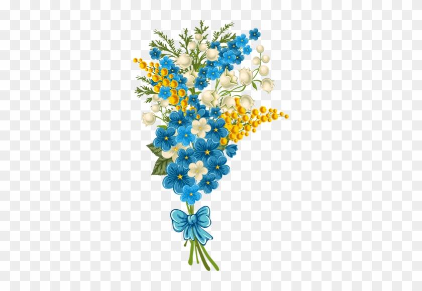 Png Flower Blue Border #273669