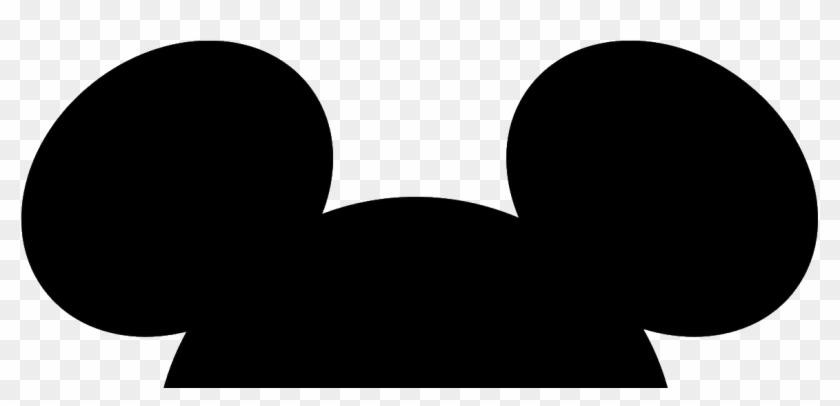 Mickey Mouse Head Silhouette Orelha Do Mickey Free Transparent