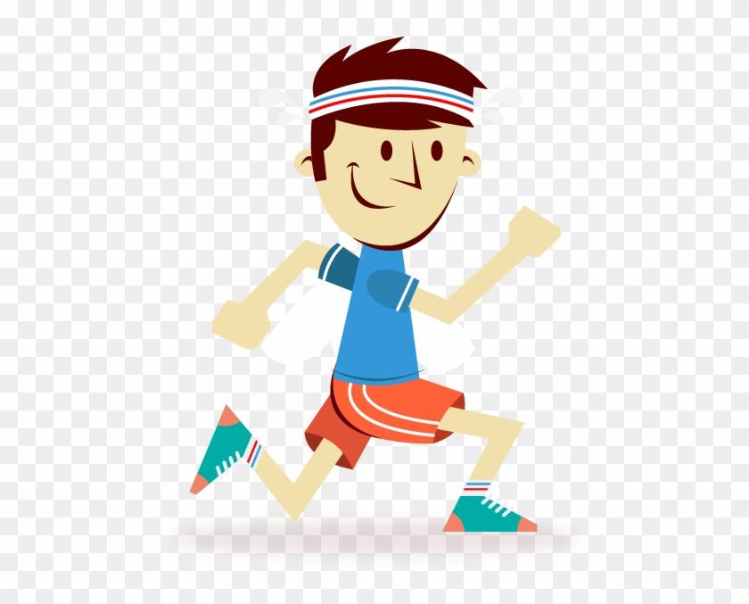 Marathon Training Running Cartoon Sport - Cartoon Man Running #273951