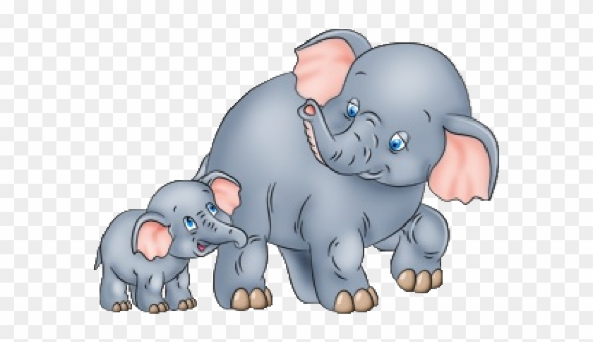Cute Baby And Momma Elephant Clip Art Mother And Elephant' - Mother And Baby Elephant Clipart #274111