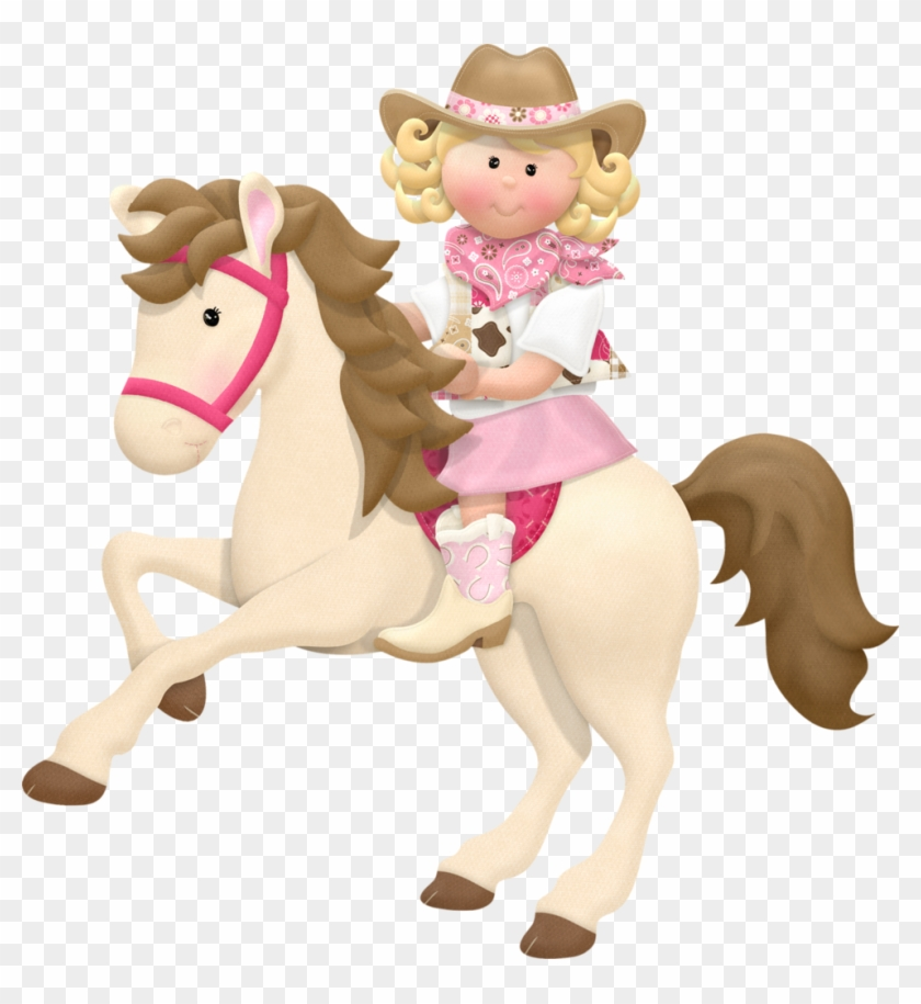Cowboy E Cowgirl - Cowgirl Horse Clipart Png #274310
