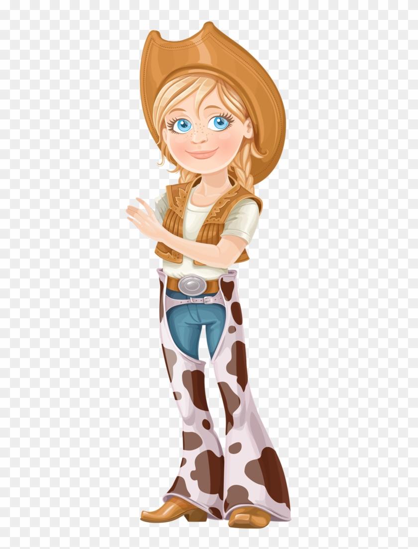 Cowboy E Cowgirl - Teen Girl Dressed As A Cowboy Cartoon #274373