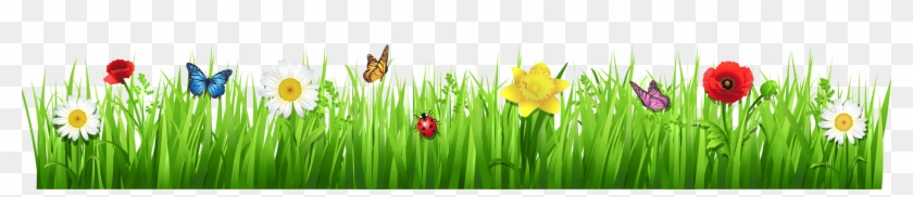 Flowers Clip Art - Grass And Flowers Clipart #274501