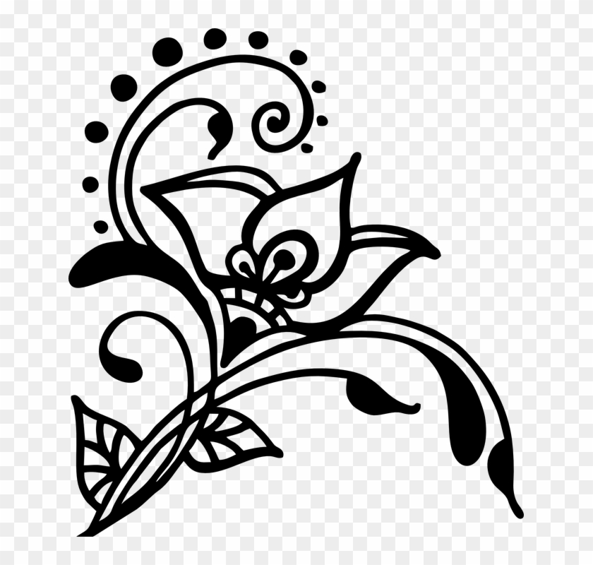 Wedding Cliparts Swirl Henna Silhouette Free Transparent Png