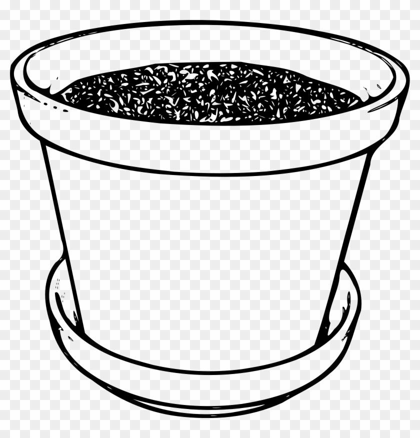 Poinsettia In Flowerpot Coloring Page - Flower Pot Clip Art #274635