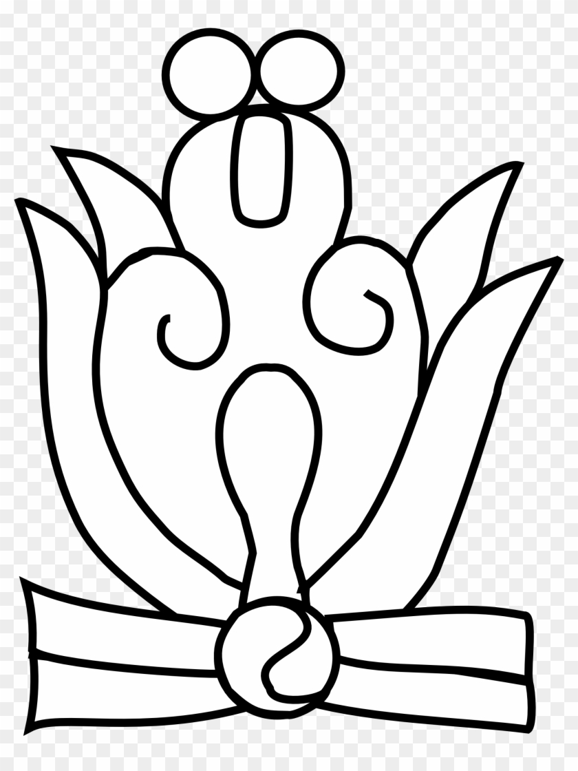 White Flowers Clip Art Black Line Tattoo And Mayan Flower Glyph