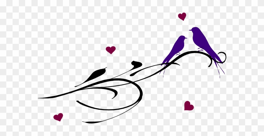 Love Birds On Branch Clip Art Download - Love Birds Tattoos #274809