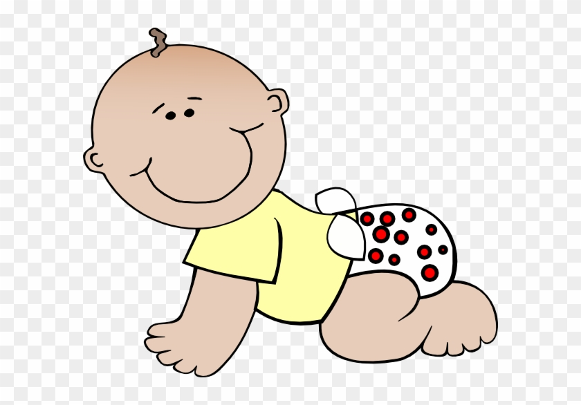 Baby Crawling Clipart - 1/4 Sheet - Baby - Edible Icing #274888