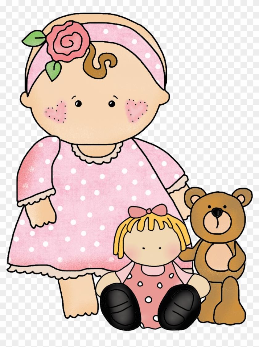 Doodle Babybaby Friendsclipart - Clipart Baby Girl #274917