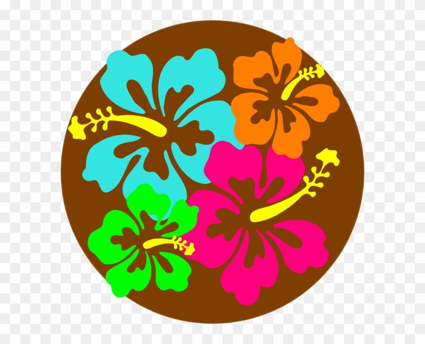 Hawaiian Flower Clipart Border - Luau Word Clip Art #274983