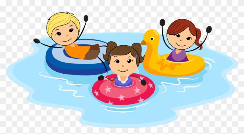 Kids Summer Fun Clip Art Site About Children - Children Swimming Clipart #274996