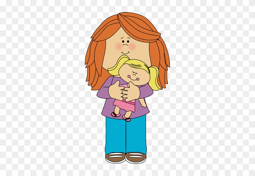 Little Girl Holding A Doll - Girl Playing With Doll Clipart #275024