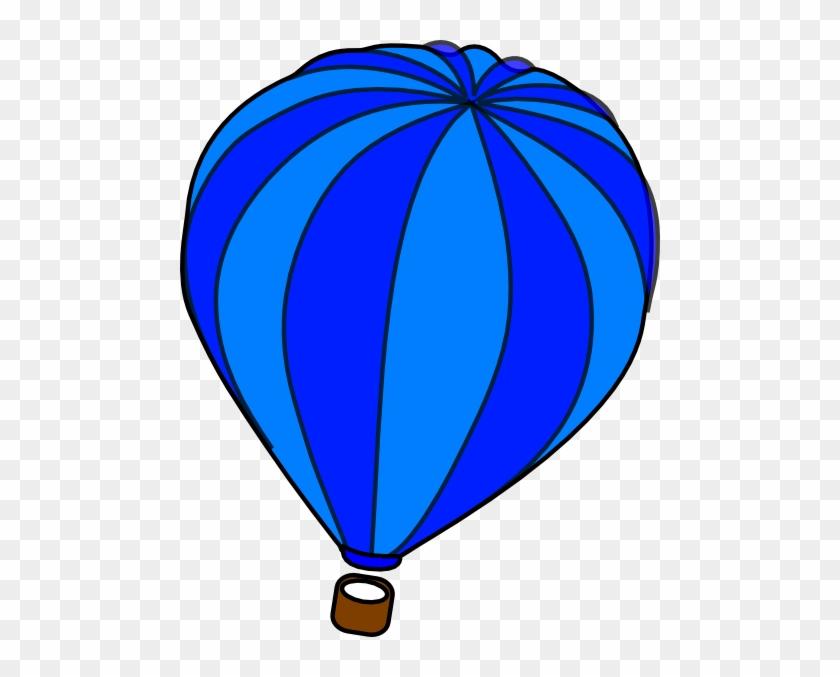 Blue Hot Air Balloon Clipart #275042