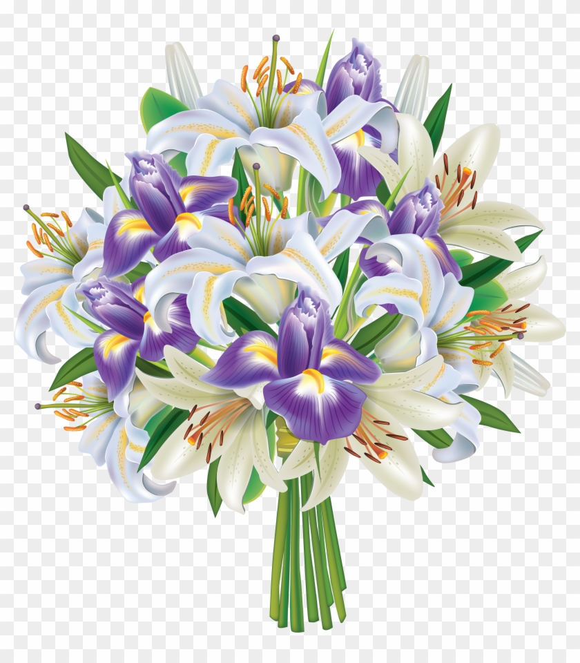Purple flower bouquet clip art free transparent png clipart images purple flower bouquet clip art izmirmasajfo