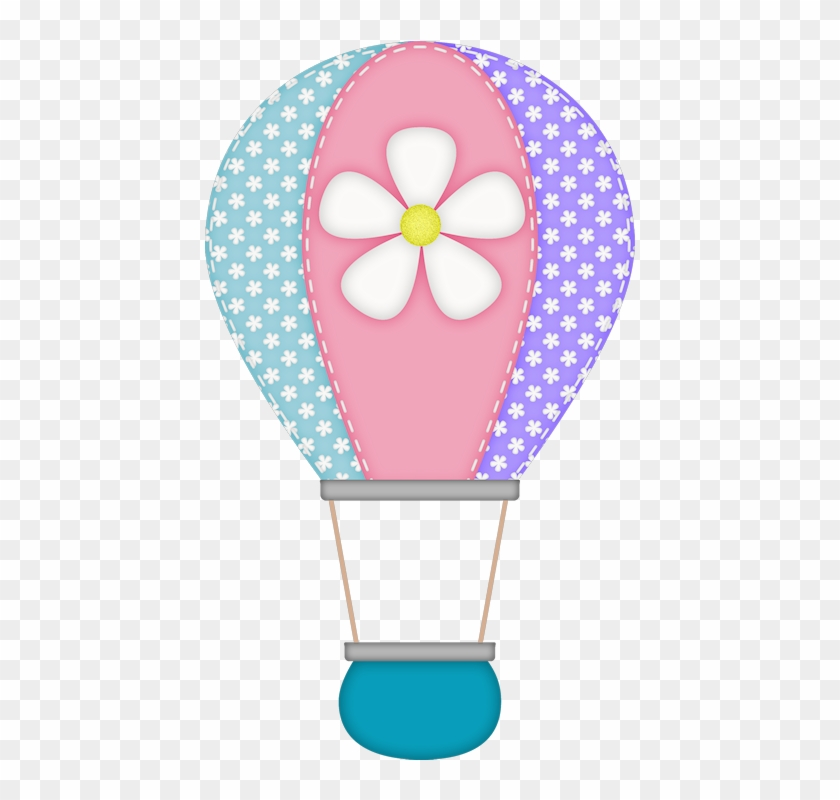 Gd Ss Hot Air Balloon - Purple Elephant Baby Shower #275138