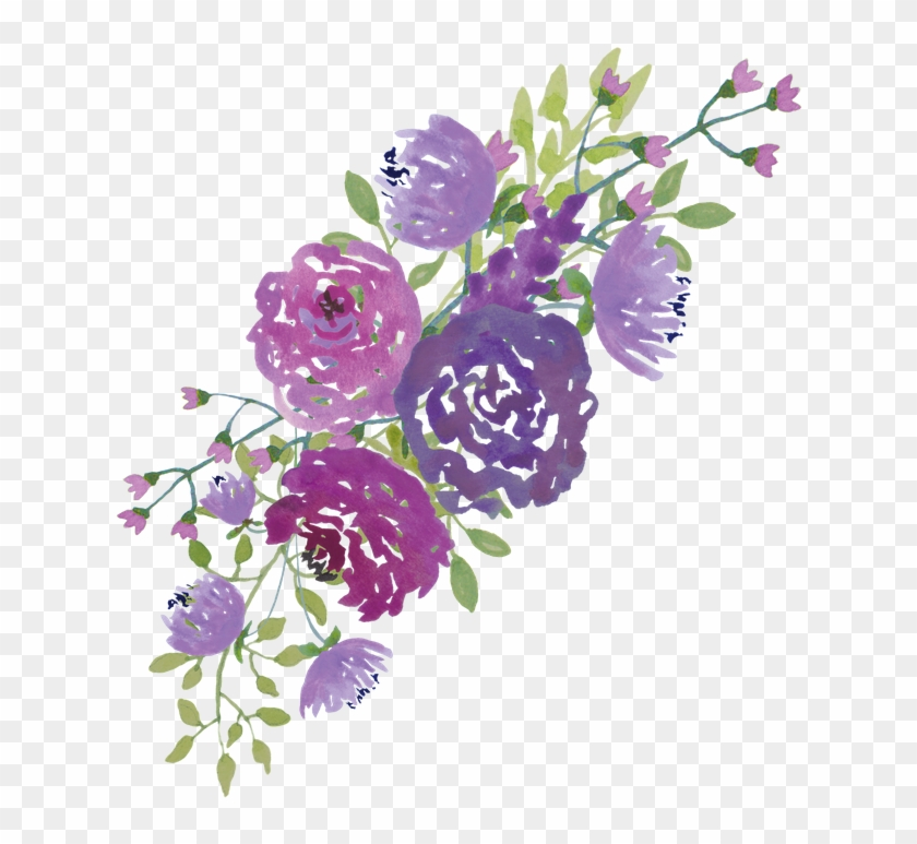 Beautiful Clipart Marriage Flower Purple Watercolor Flowers Png