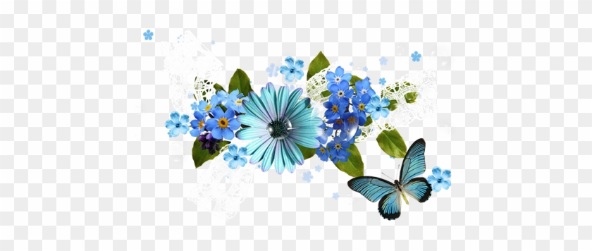 Melody Of Spring Flowers Clipart Png Image Blue Spring Flowers