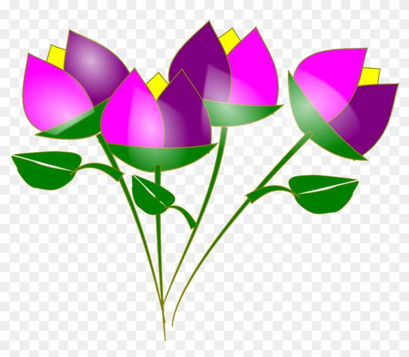 Spring Flowers Graphics 10, Buy Clip Art - Dibujos Animados De Flores #275210