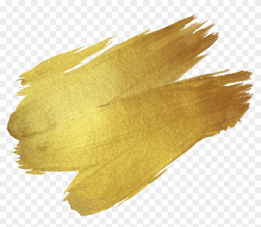 Brush Paint Gold Drawing - Gold Brush Stroke Png - Free
