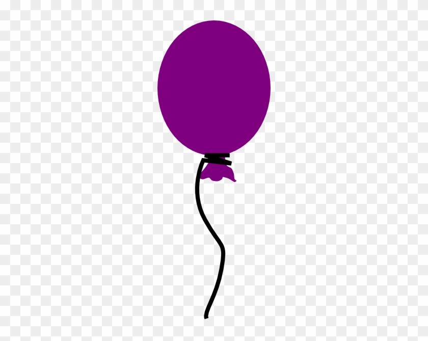 Clipart Info - Single Purple Balloon Clipart #275494
