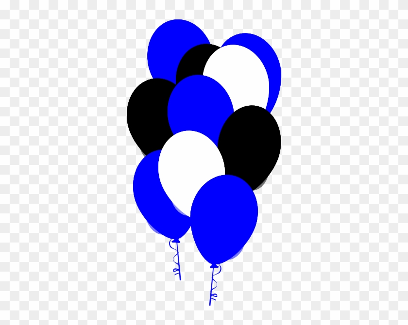 Blue And Black Balloons Clipart #275498