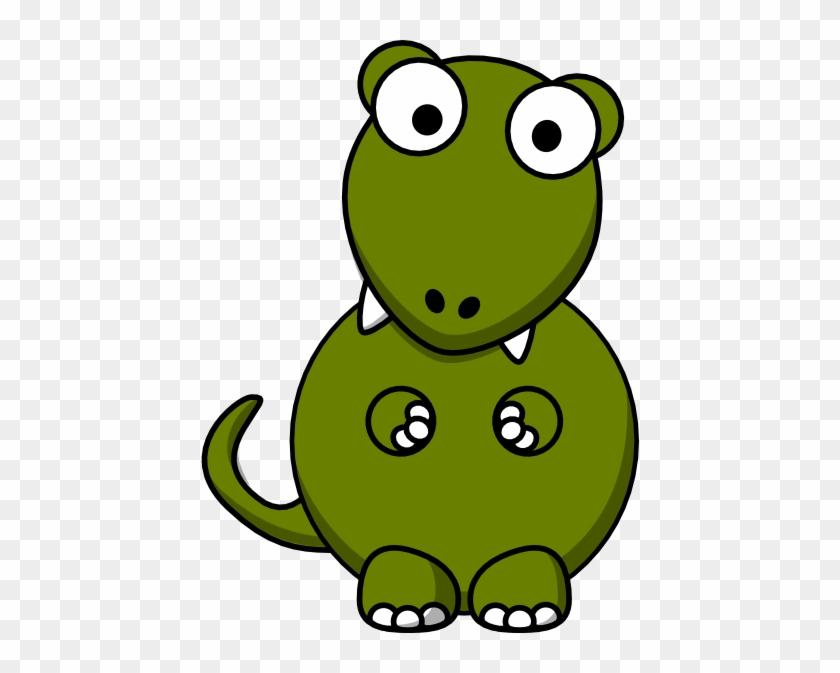 Small - Cartoon Tyrannosaurus Rex Dinosaur Shower Curtain #275531