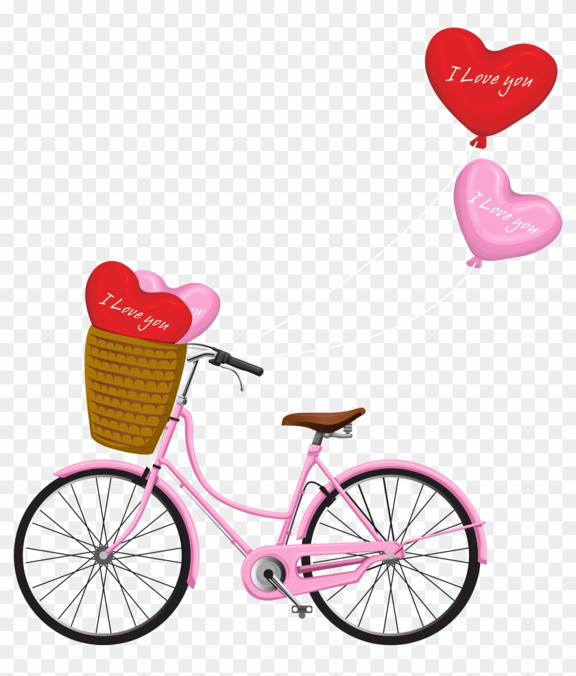 Valentine's Day Bicycle Png Clipart Image - Romantic Bicycle Clipart Png #275557