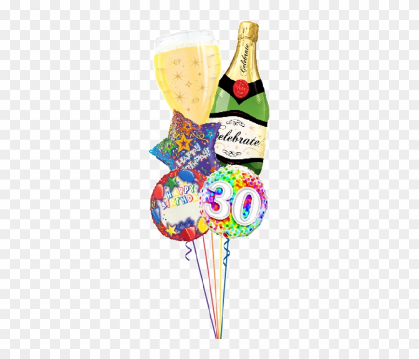 Personalized Name & Age Birthday Bubbly Bouquet - Celebrate Bubbly Wine Bottle 39 Inch Bottle Balloon #275655