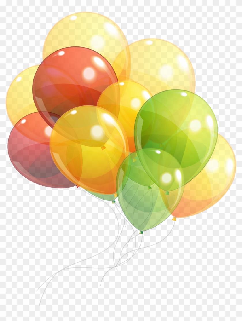 Render Ballon Multicolore Ballons Multicolores Fete - Ballon Sur Fond Transparent #276193