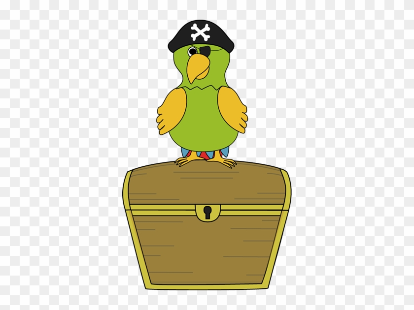 Pirate Parrot Sitting On Treasure Chest - Pirate Theme Decoration For Classroom #276269