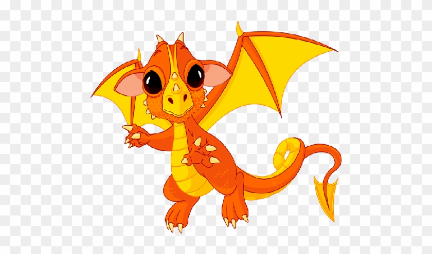 Cute Cartoon Dragons With Flames Clip Art Images Are - Cute Baby Dragon #276426