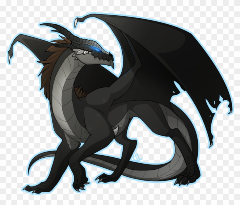 Black Dragon By Lilwolfpard D649l5v Color Wings Of Fire Nightwing Free Transparent Png Clipart Images Download